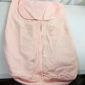 Vintage Satin Pink Diaper stacker embroidered